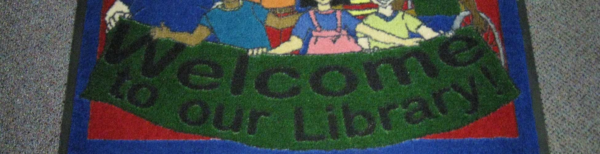 Library Welcome Rug