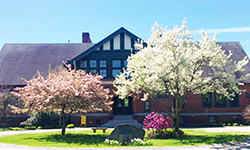 Stevens Memorial Library in Spring photo